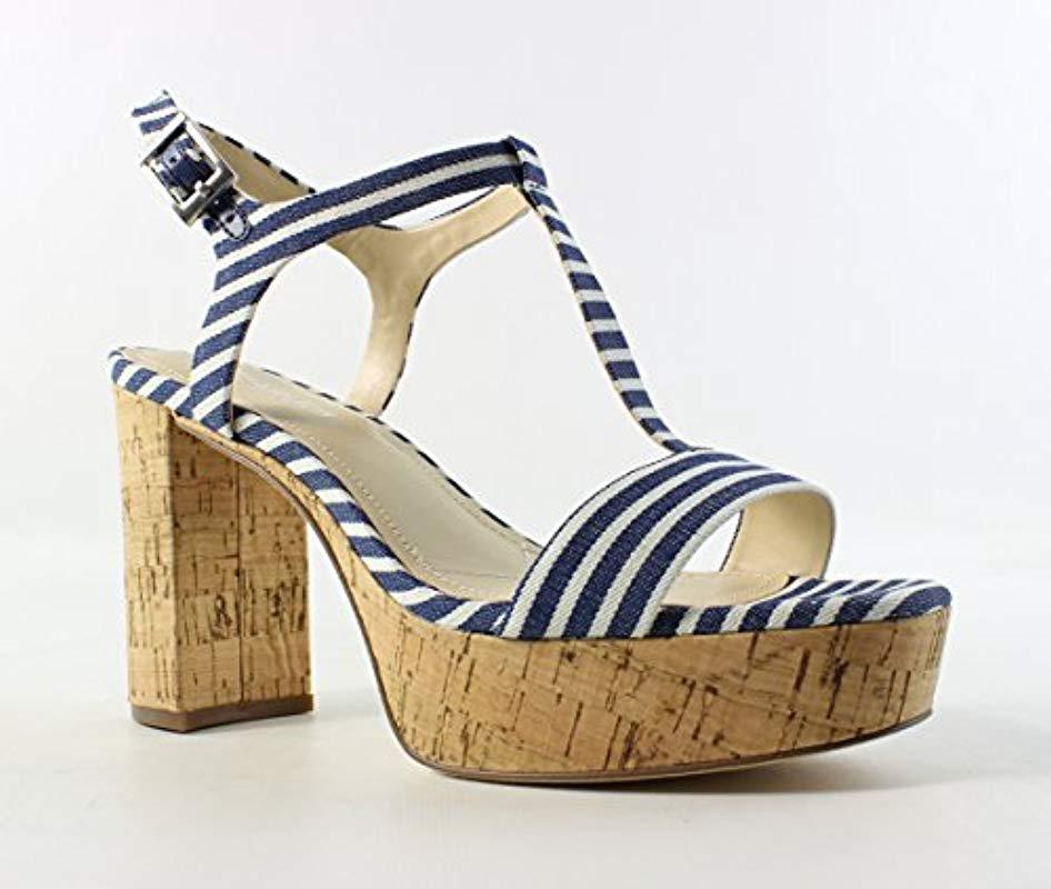 1e2baebe06f6 Lyst - Charles David Miller Platform Dress Sandal in Blue