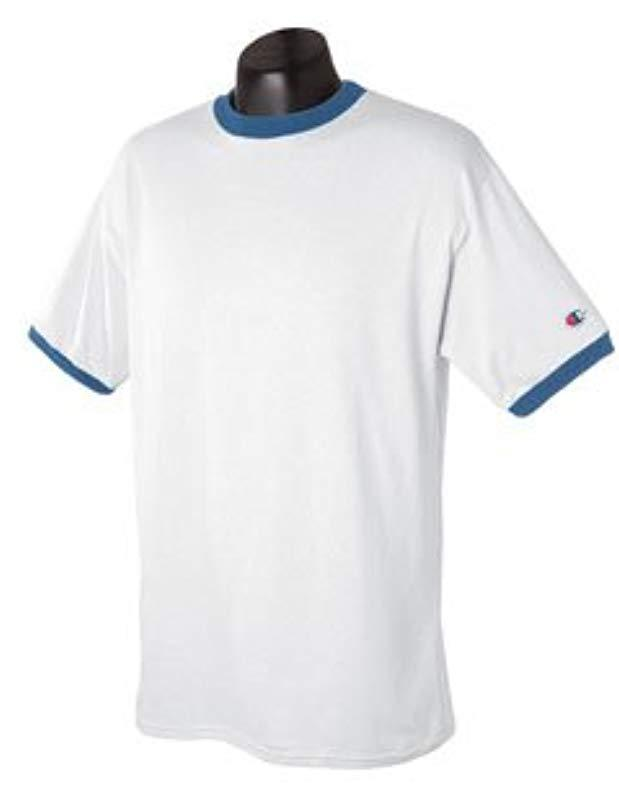 6180dc6e Lyst - Champion Double Dry Mesh Heather Long Sleeve T-shirt in White ...