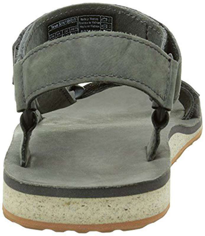 625231a7f7e4 Teva - Gray Original Universal Premium Leather Sports And Outdoor Lifestyle  Sandal for Men - Lyst. View fullscreen