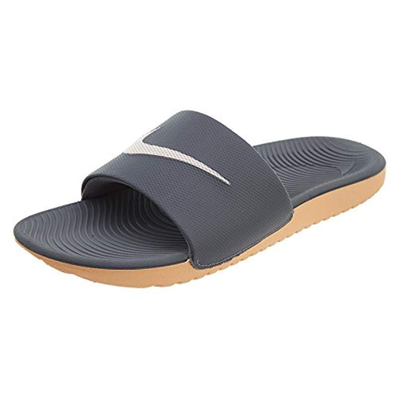 2d5a542f046a Lyst - Nike Kawa Slide Sandal in Blue