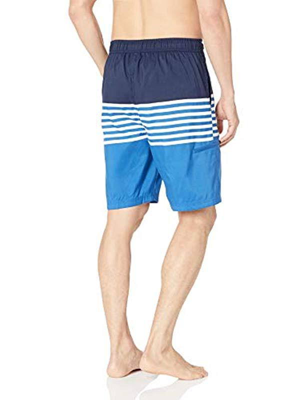 57201af53c U.S. POLO ASSN. Swim Short Horizontal Stripes in Blue for Men - Lyst