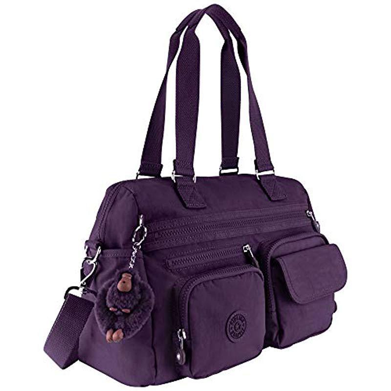 Lyst Kipling Mara Solid Satchel Deep Purple In Purple