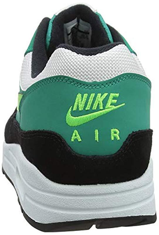 online retailer 4e0c0 949ec Nike Air Max 1 Gymnastics Shoes, (white green Strike neptune Grey ...