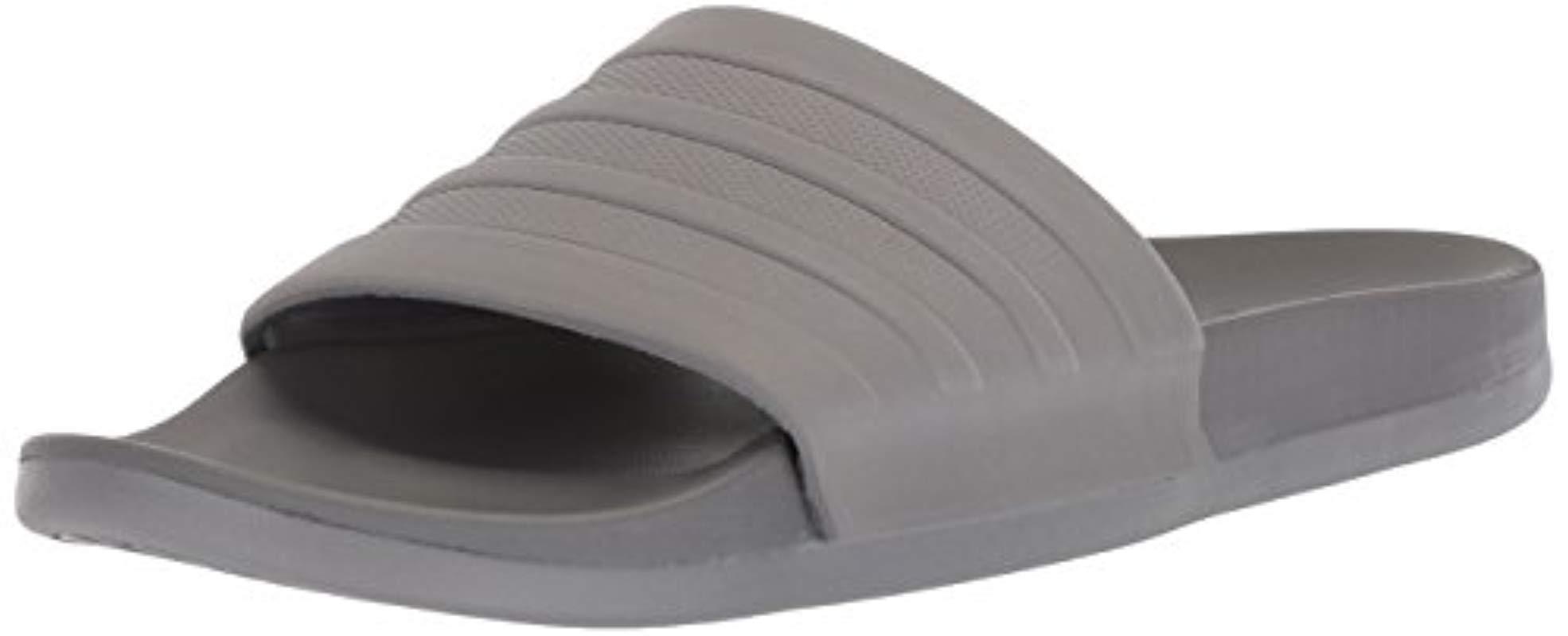 3fa4334bf312df Lyst - Adidas Originals Adidas Adilette Comfort Slide Sandal in Gray ...