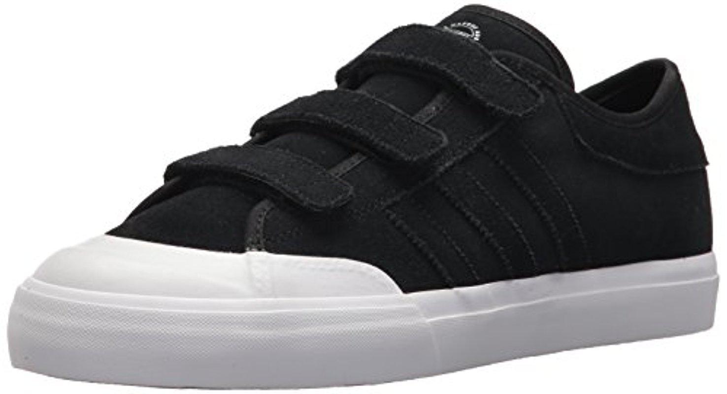 lyst adidas originali matchcourt di skate scarpa in nero per gli uomini.