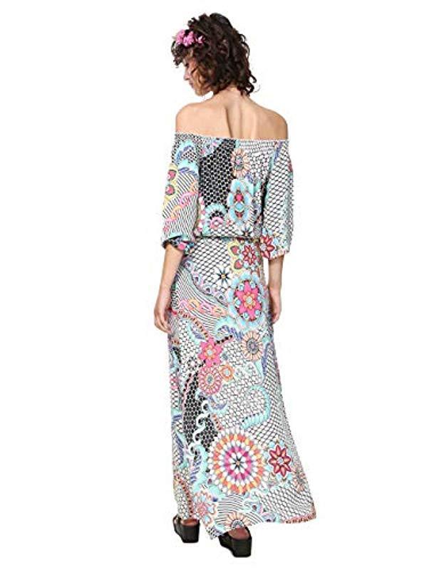 b32a4874628b29 Desigual Vest dera Dress in White - Save 16% - Lyst