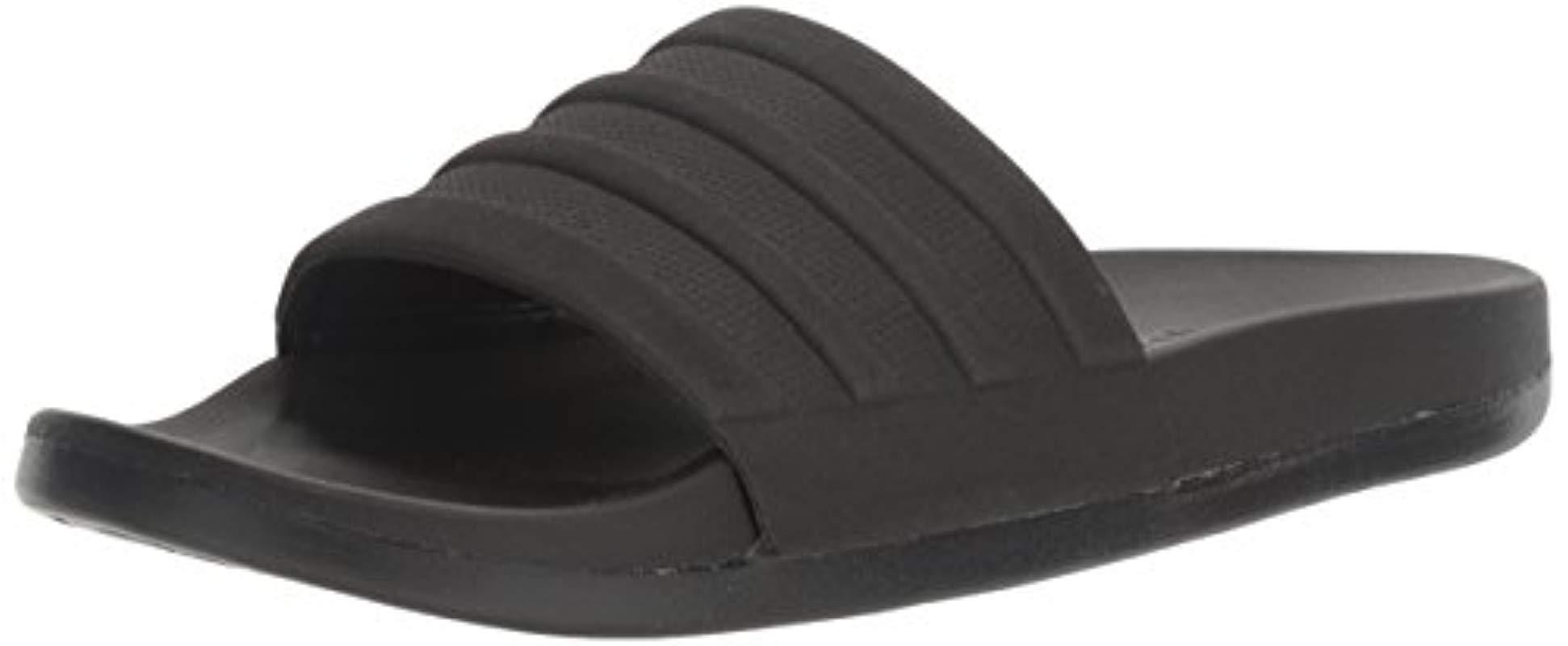 8ff3ed849025 Lyst - adidas Adilette Comfort Slide Sandal Black