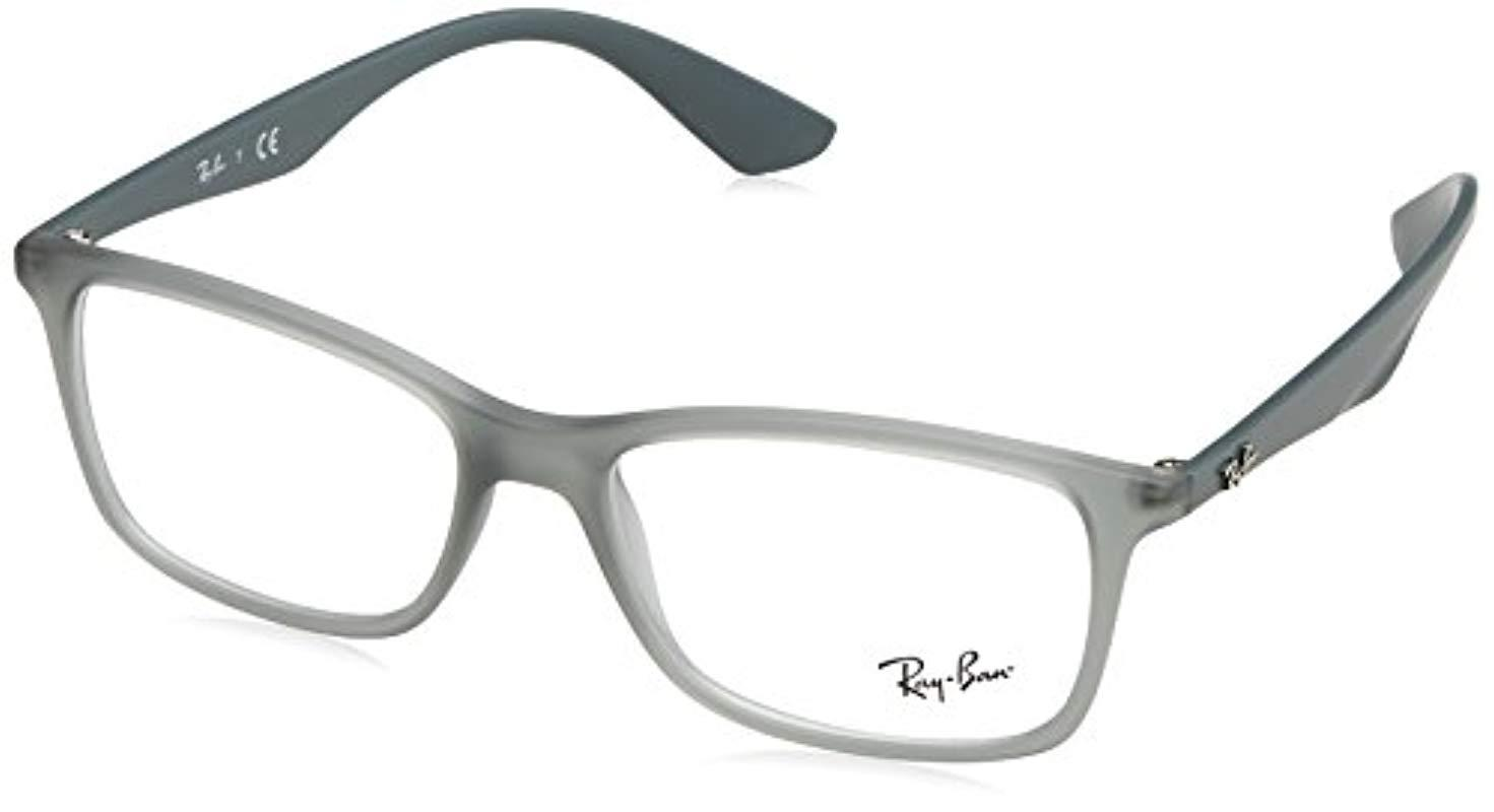 191c055e614eb Lyst - Ray-Ban Rx7047 Eyeglasses in Gray for Men