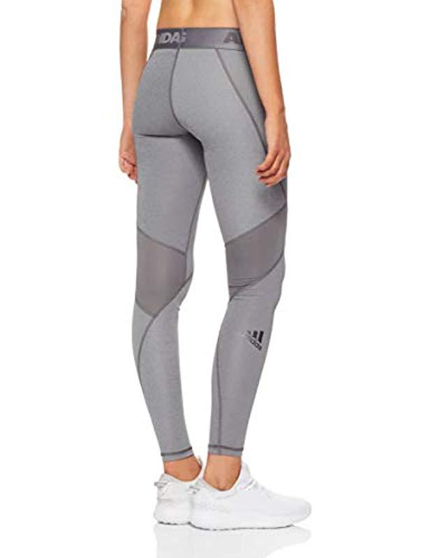 adidas Alphaskin Sport Long Tights in Gray - Lyst e561a195546