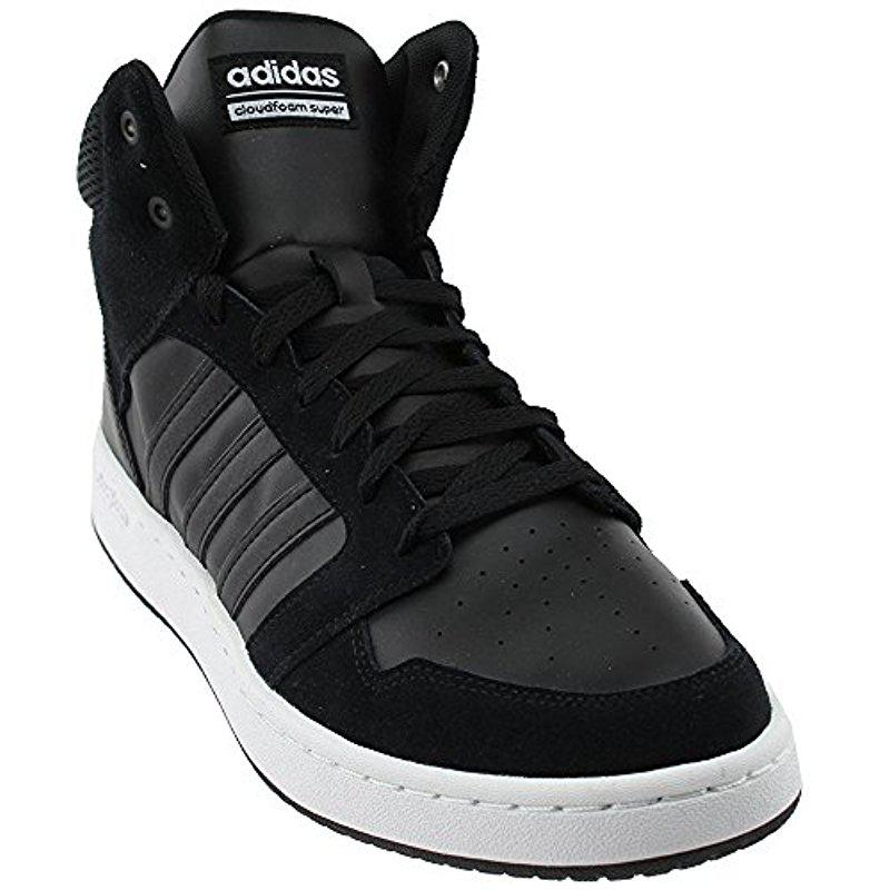 cheap for discount ba80d 55743 Lyst - Adidas Cloudfoam Super Hoops Mid Core Blackcore Black