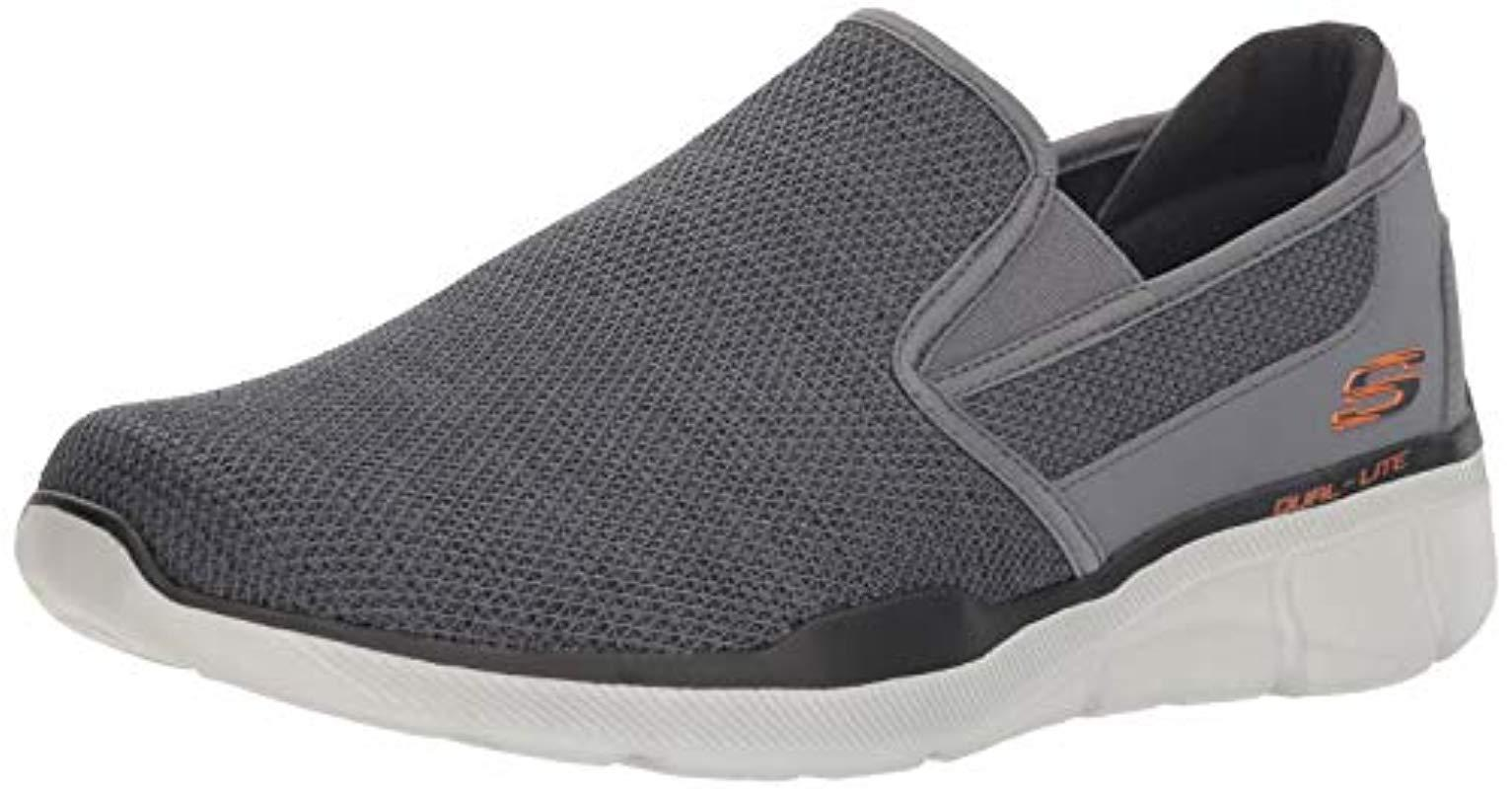 the latest 67902 6a89b Skechers - Gray Equalizer 3.0- Sumnin Slip On Trainers for Men - Lyst