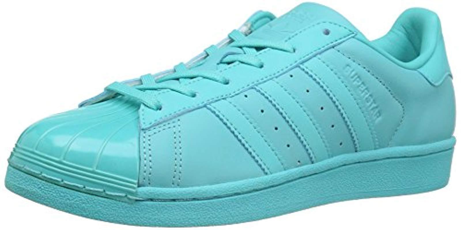 best sneakers 9e3e0 c5ac8 adidas Originals. Women s Blue Superstar Glossy Toe Fashion Running Shoe