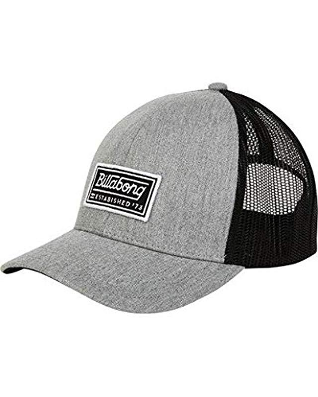 2d95d765caeee Lyst - Billabong Classic Trucker Hat in Gray for Men