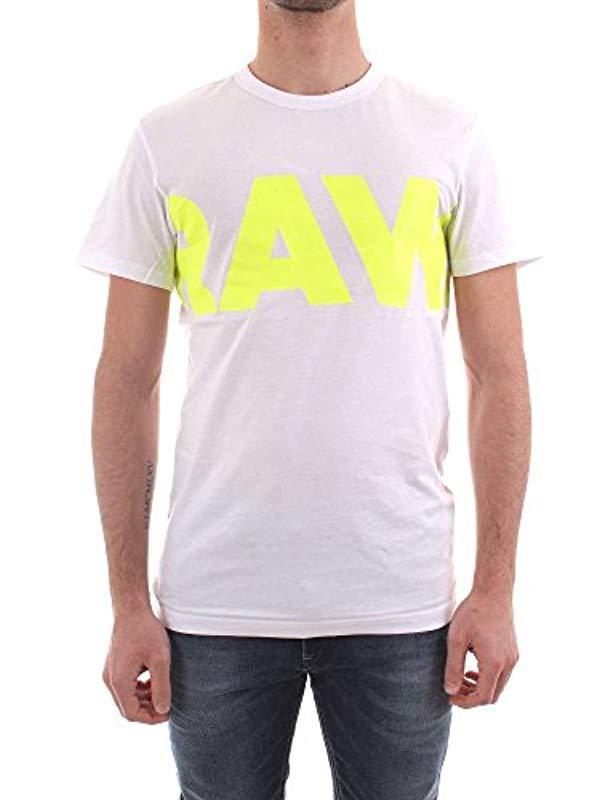 78961318940 G-Star RAW Vilsi R T S s T-shirt in White for Men - Lyst