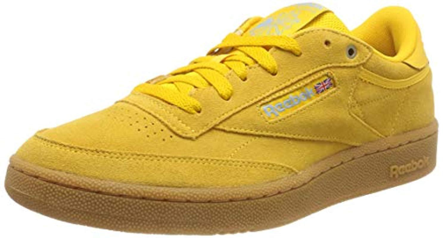 23262b304c529 Reebok X Montana Cans Paint Club C 85 in Yellow for Men - Save 23 ...