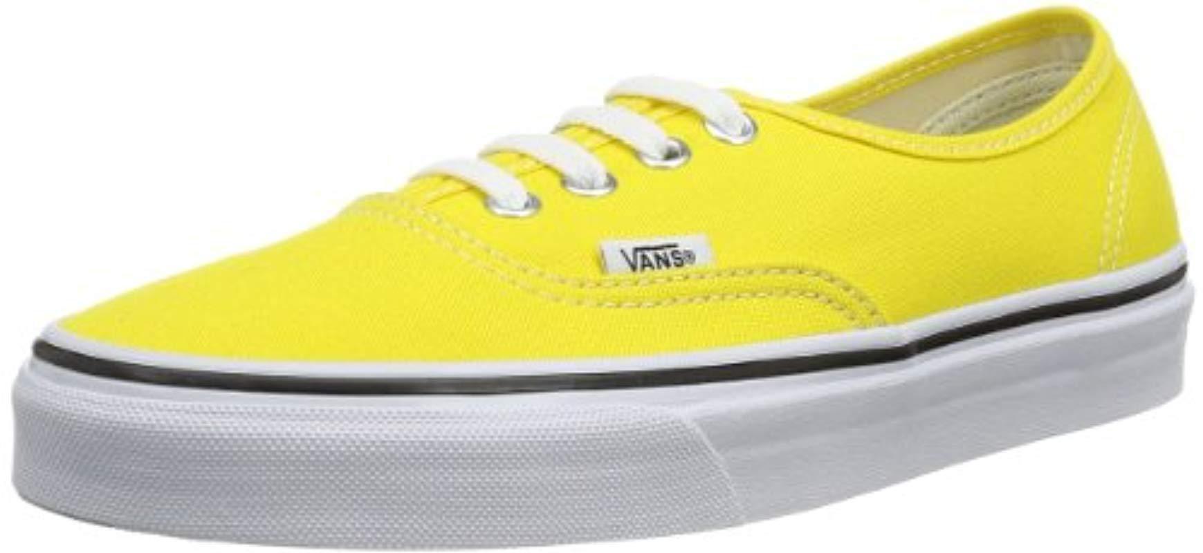 vans u authentic jaune