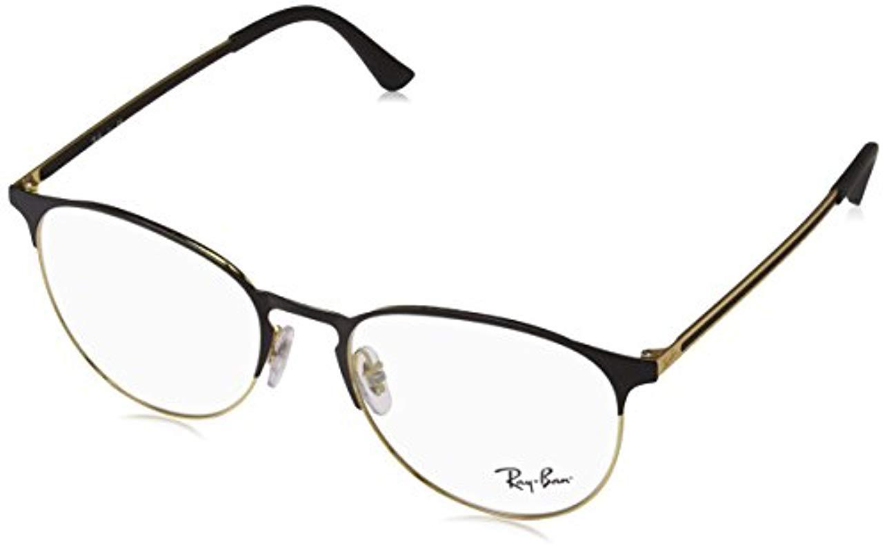 aff386596d Ray-Ban Rx6375 Glasses In Gold Black Rx6375 2890 51 in Metallic - Lyst