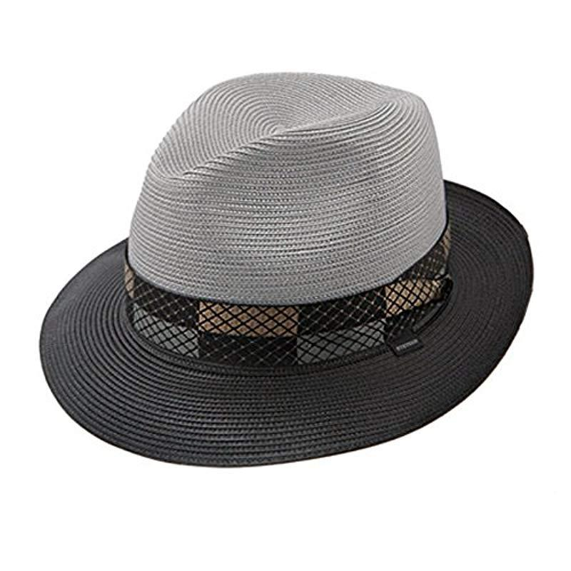 96e532b338d3d4 Lyst - Stetson Andover Florenine Milan Straw Hat in Gray for Men