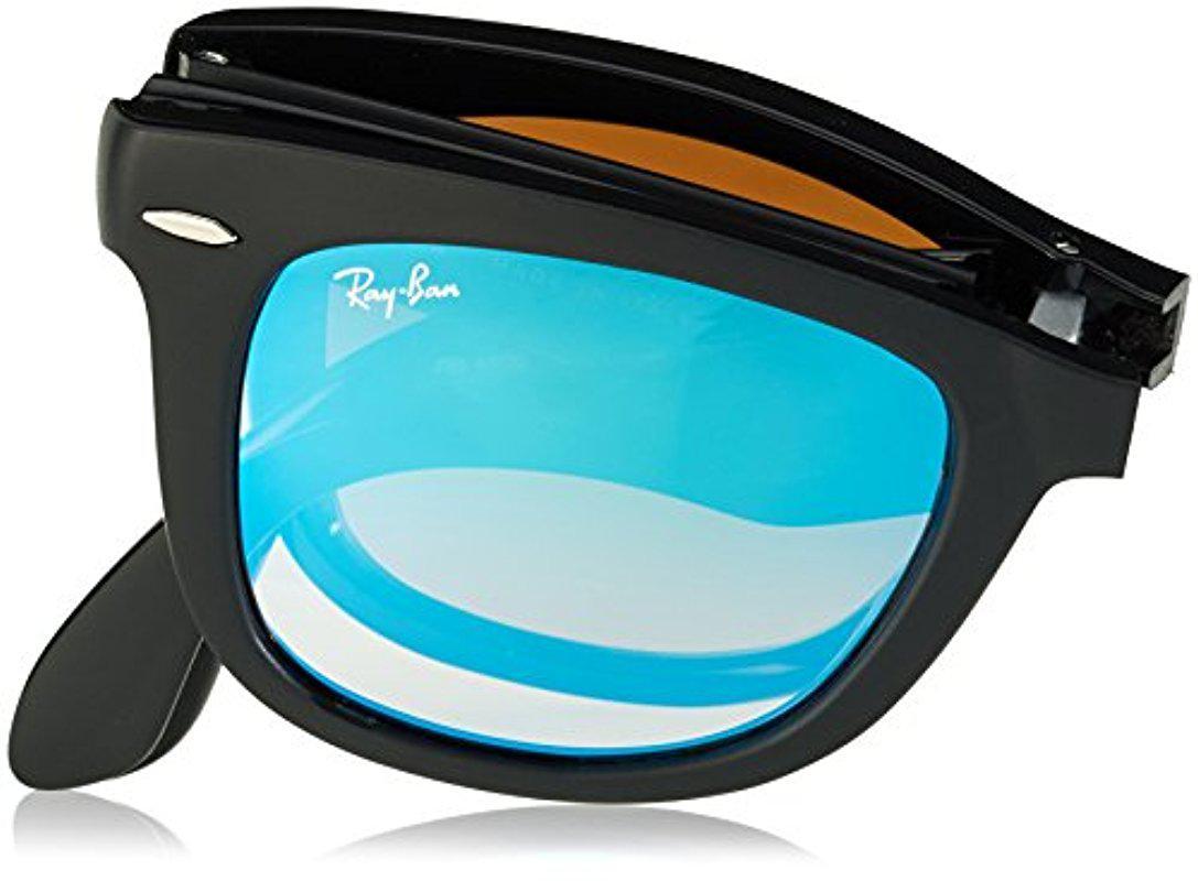 6803413b63 Lyst - Ray-Ban Folding Wayfarer - Matte Black Frame Mirror Gradient ...