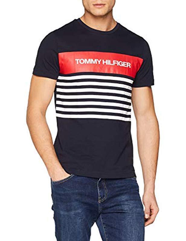 3de1875122 ... Wcc Colour Block Stripe Tee T-shirt for Men - Lyst. View fullscreen