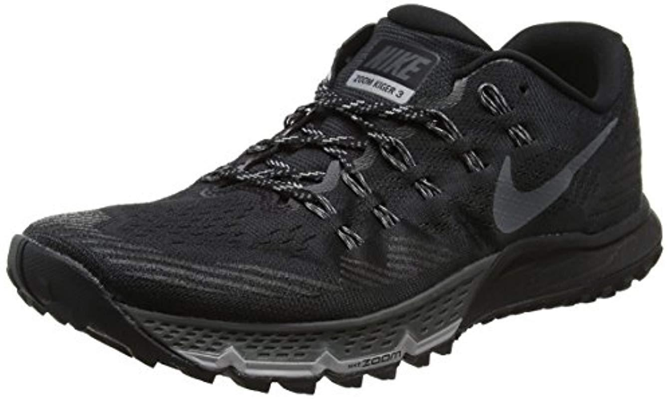cd4fe3d5311 Nike W Air Zoom Terra Kiger 3 Trail Running Shoes in Black - Lyst