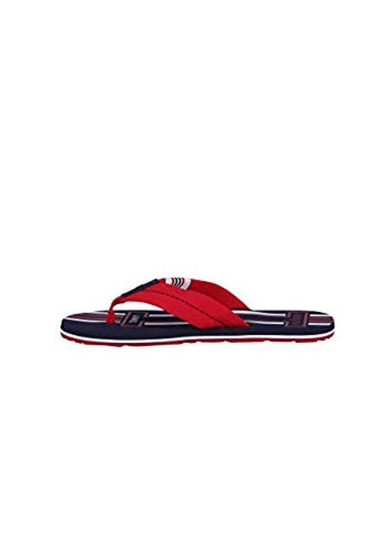 bf3a3cdaff3 Tommy Hilfiger - Red Badge Textile Beach Sandal Flip Flops for Men - Lyst.  View fullscreen