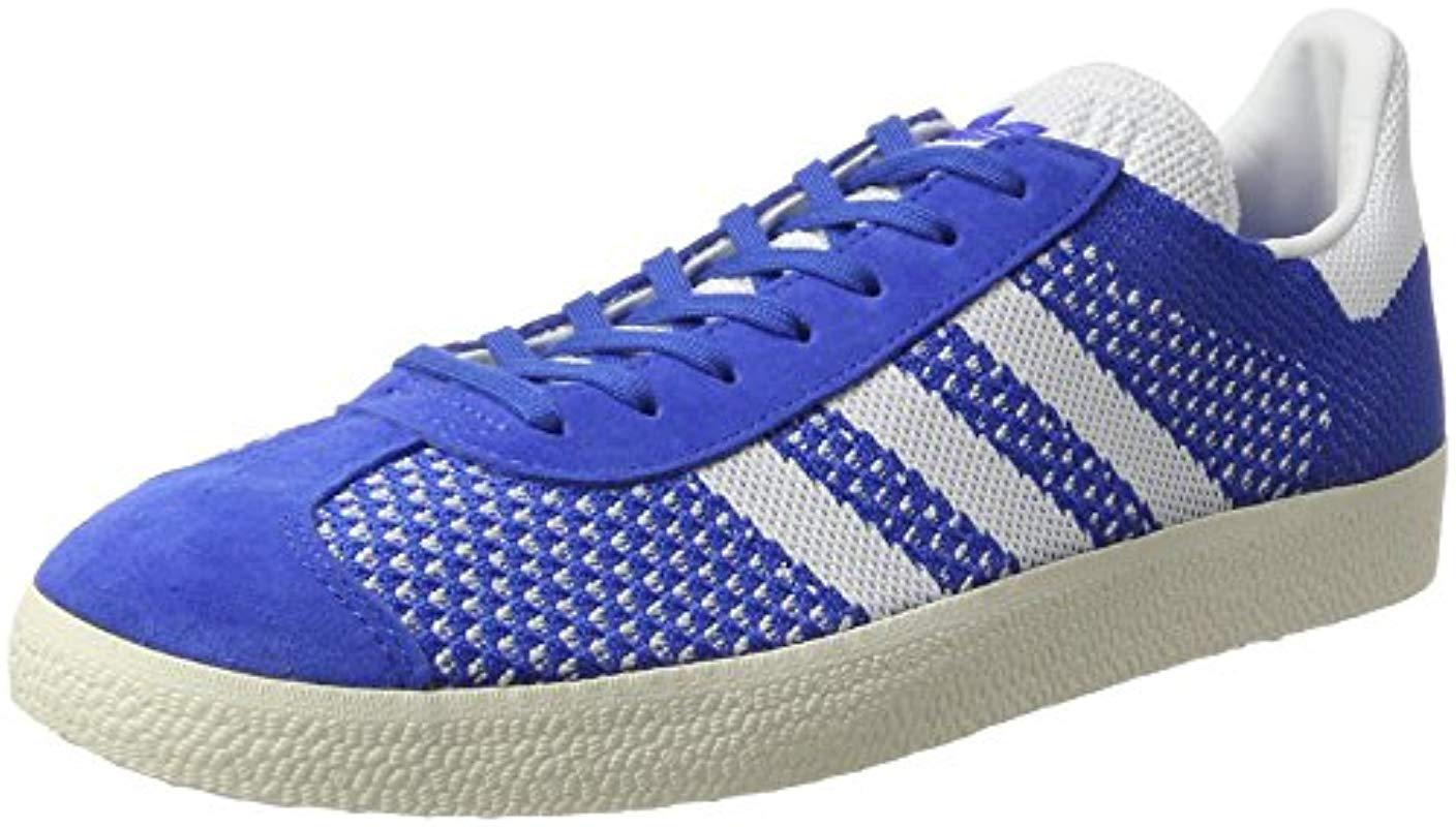 meet dedd8 e54ff Adidas Gazelle Primeknit Trainers in Blue for Men - Lyst