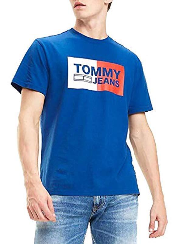 4afb9f2a Tommy Hilfiger 's Tjm Essential Split Box Tee T in Blue for Men - Lyst