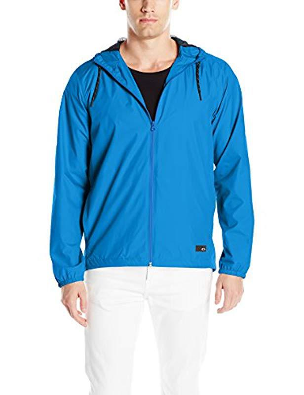 4d93a7dbf08 Oakley Mens 365 Windbreaker Jacket Windbreaker Jacket in Blue for ...