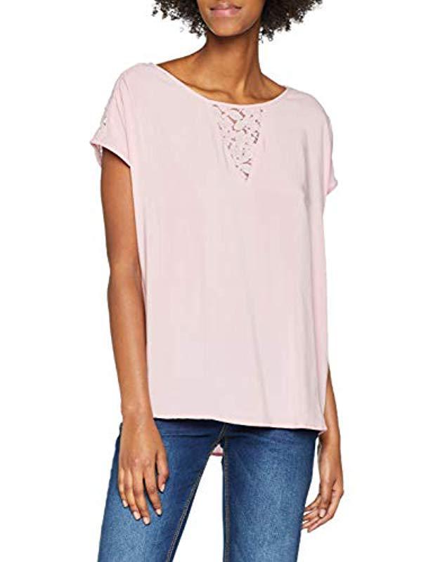 Vero Moda Vmdebbie Lace S s Top Exp Vest in Pink - Lyst 5527d417e41a