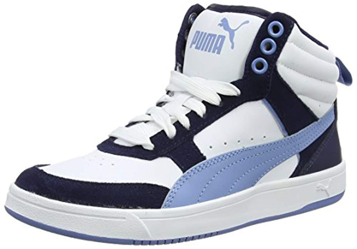 84436bfd459282 PUMA Unisex Adults Rebound Street V2 Hi-top Trainers in Blue for Men ...
