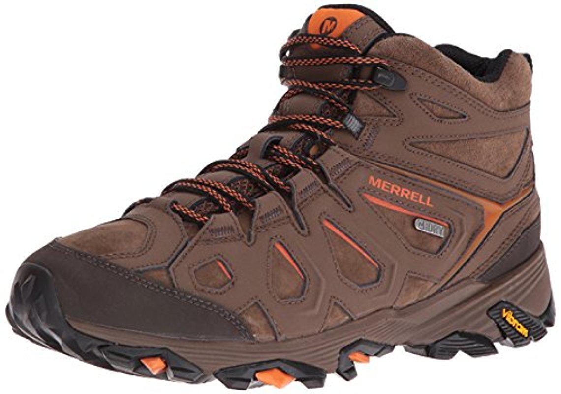 Merrell. Men's Brown Moab Fst Ltr Mid Waterproof Hiking Boot