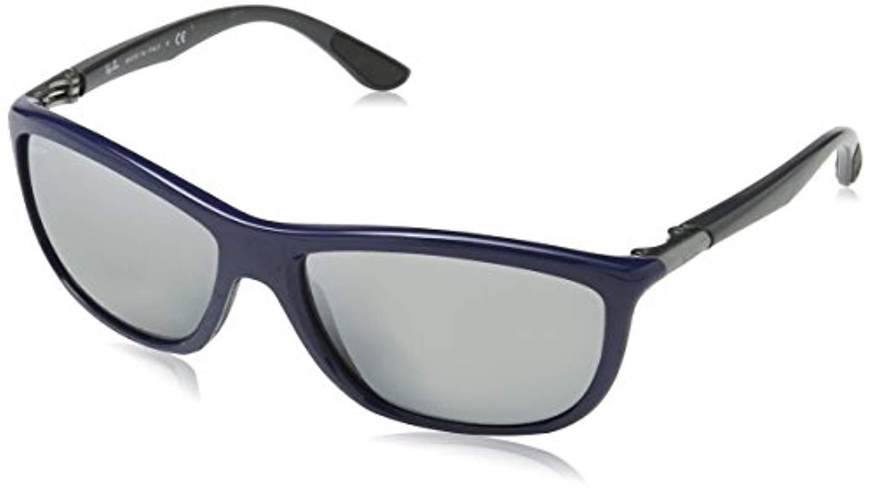 e863e4da2a Ray-Ban Active Lifestyles Square Wraparound Sunglasses In Shiny ...