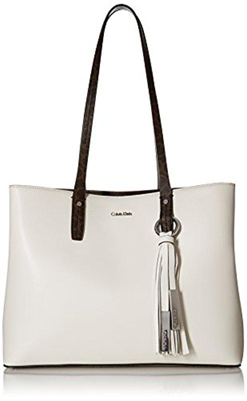 CALVIN KLEIN 205W39NYC Womens Amazon East West Leather Tote Bag 5Epgrqdt