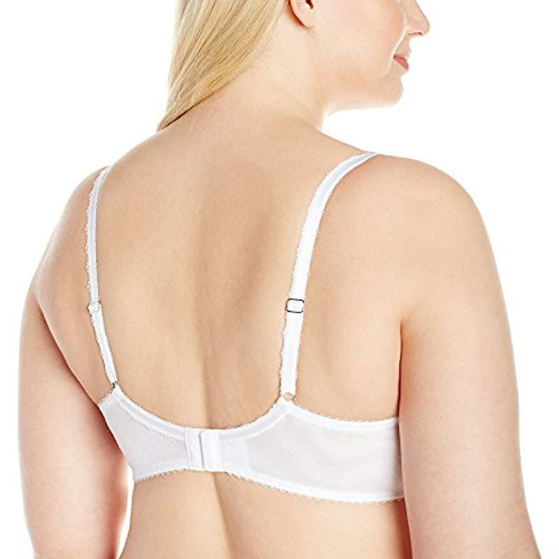 7504ae216e01b Lyst - Wacoal Plus Size Chrystalle Full Figure Underwire Bra in White