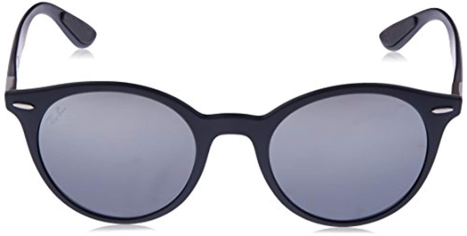 61959e9819 Ray-Ban - Gray Lightforce Round Sunglasses In Matte Dark Grey Rb4296 633288  51 for. View fullscreen