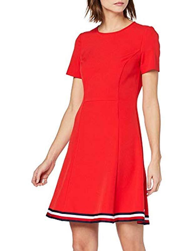 c825e4de3c43ec Tommy Hilfiger Damen Angela Global STP Dress Ss SLV Kleid in Rot - Lyst