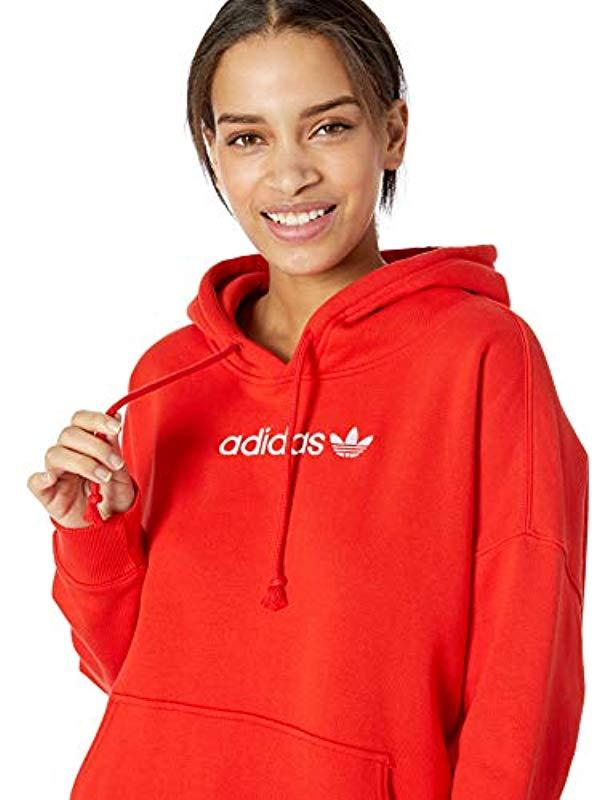 Coeeze Adidas In Lyst Originals Red Hoodie Rf7REnq4 24cfa1c1068