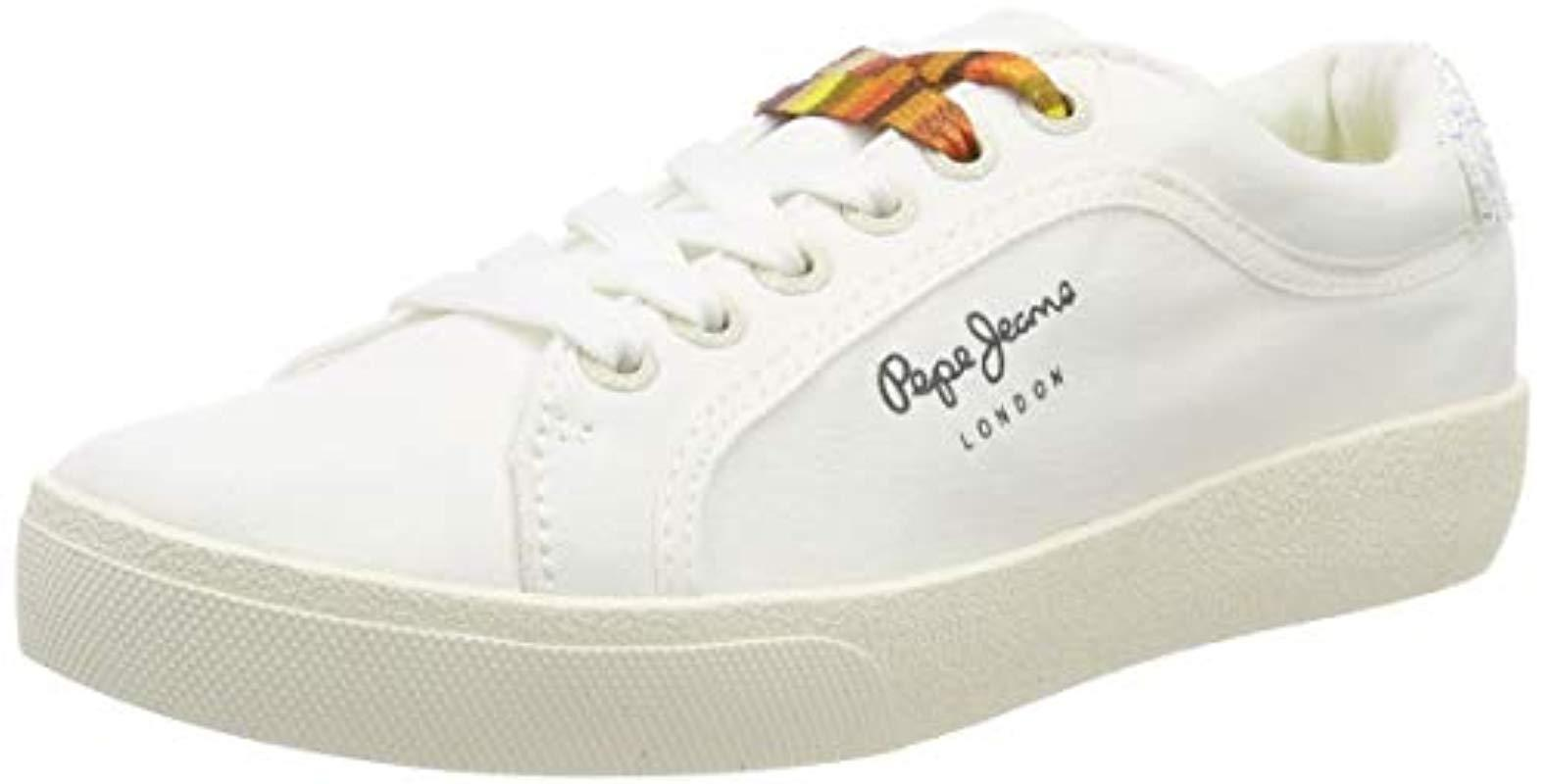 6e088cd9f99 Pepe Jeans Rene Surf Trainers in White - Lyst