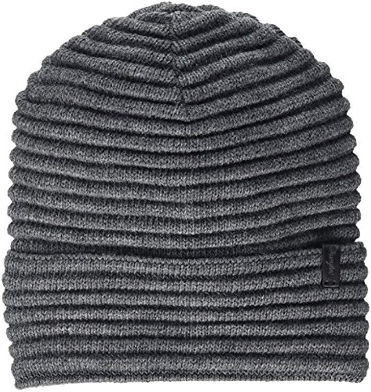 afe60fa2ad8b2 Wrangler - Gray Ribbed Hat Beanie - Lyst. View fullscreen