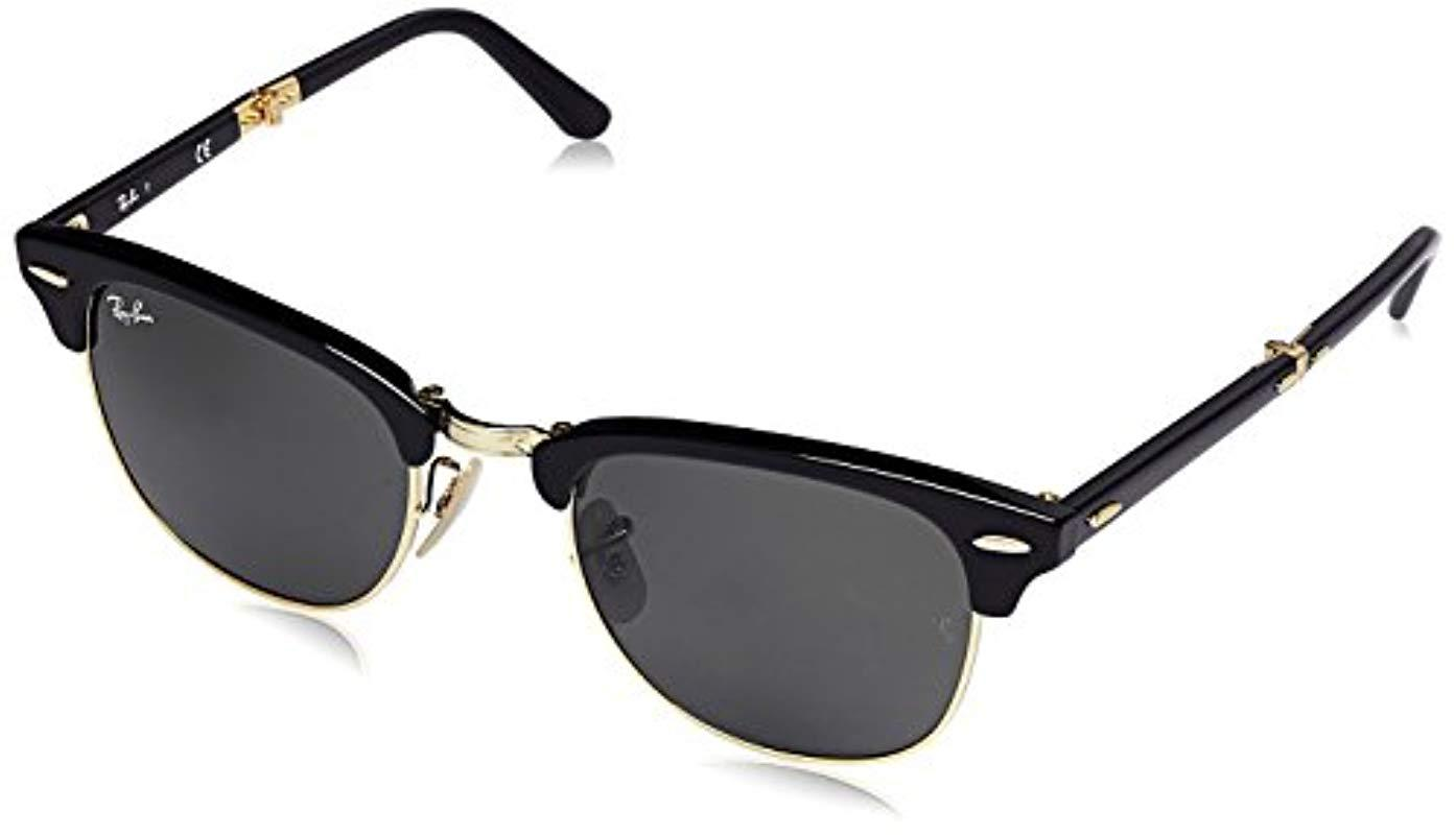 Ray-Ban Sonnenbrille Clubmaster Folding (rb 2176) in Black - Lyst 7b60028b1c
