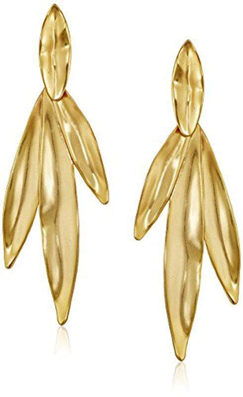 Trina Turk Linear Leaf Earrings M9gCHld