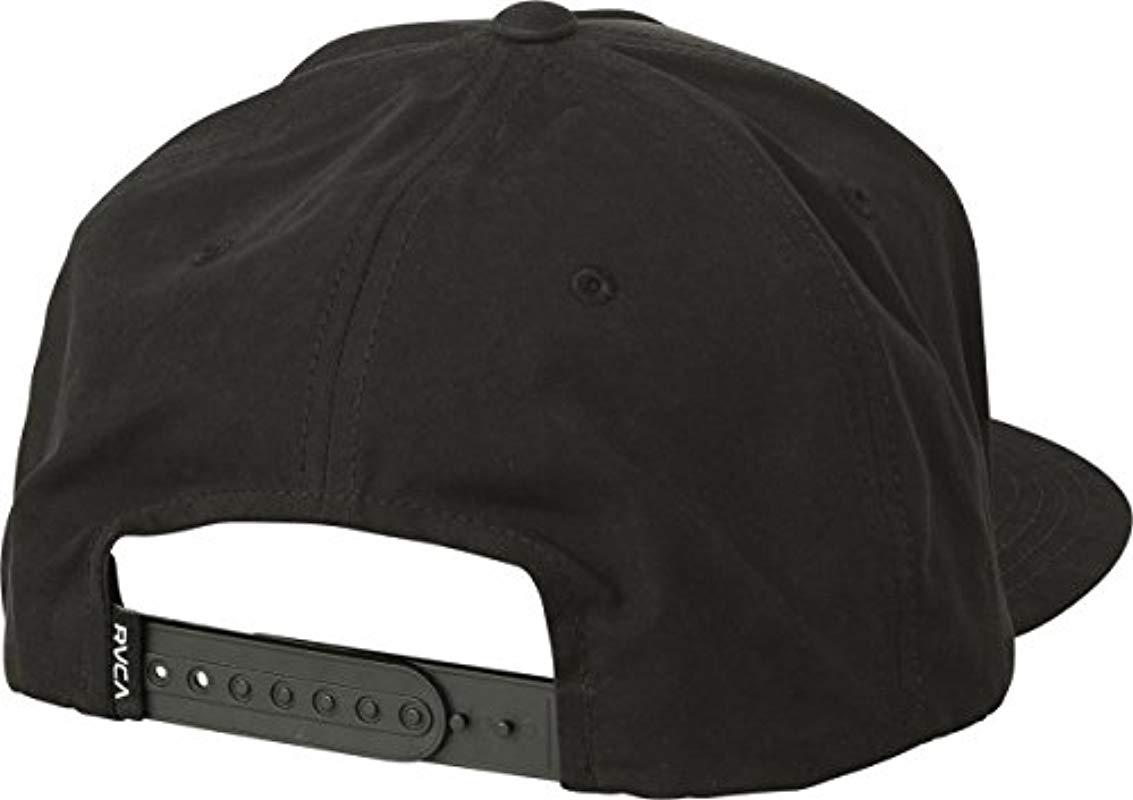more photos c476f b59de ... reduced rvca black neo patch snapback hat for men lyst. view fullscreen  d60ff 107f2