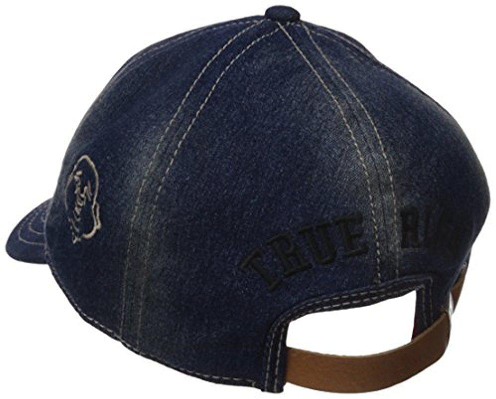 b71e439f985 Lyst - True Religion Chief Skull Baseball Cap in Blue for Men