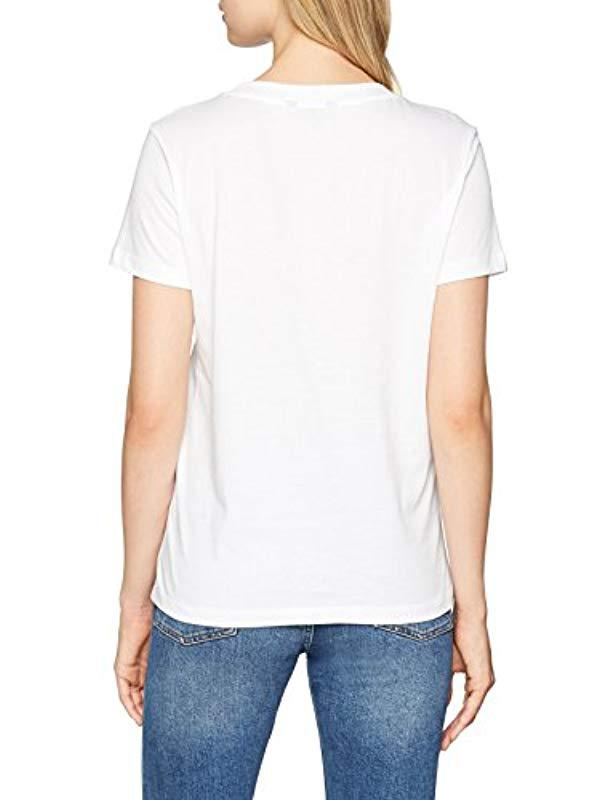 b7b1d5227 Tommy Hilfiger Fifi Round-nk Tee Ss T-shirt in White - Lyst