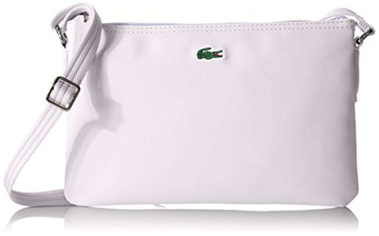 6101b24f9e Lyst - Lacoste L.12.12 Concept Flat Crossover Bag in White