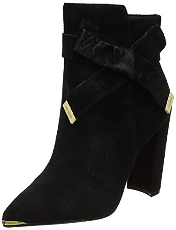 9d9d9ccf243 Ted Baker Sailly Boots in Black - Lyst