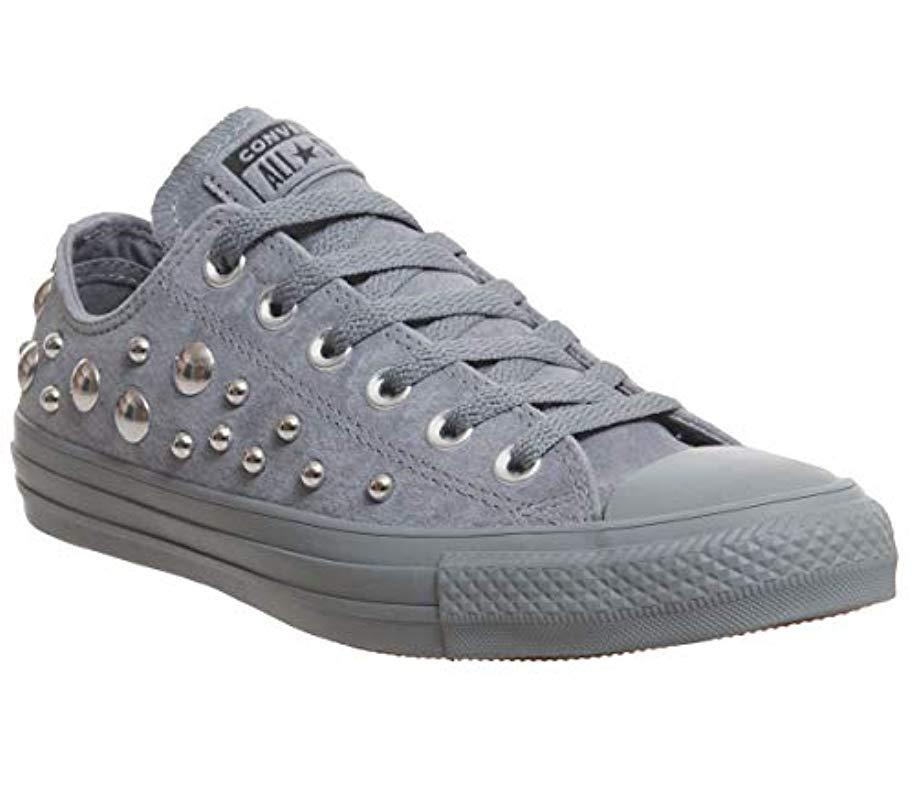 bcab928cc467 Converse All Star Low Trainers By Office in Gray - Save 53% - Lyst
