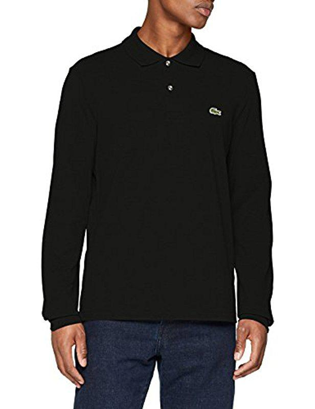 d58f013058a61 Lyst - Lacoste Long Sleeve Classic Pique L.12.12 Original Fit Polo ...