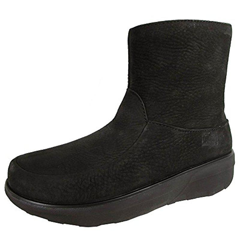0a67fba61f9b Lyst - Fitflop Loaff Shorty Zip Nubuck Winter Boot in Black